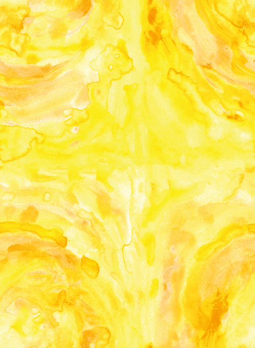 Little Beans Nanny Agency Water Colour Yellow